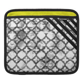 311 rayas negras retras del trébol fundas para iPads