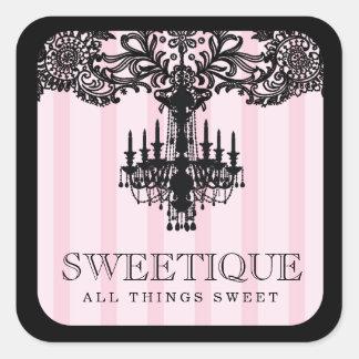 311 rayas rosadas de Sweetique y lámpara del Colcomanias Cuadradases