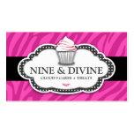 311 rayas rosadas divinas de la cebra tarjetas de visita