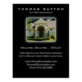 311 Real Estate Postcards Luxury Home Yellow