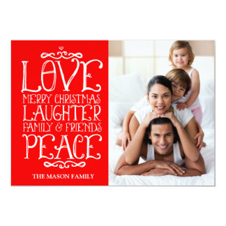 311 Red Love Laughter Merry Christmas Holiday Card