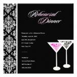 311-Rehearsal Dinner Damask Glass Pink Invites