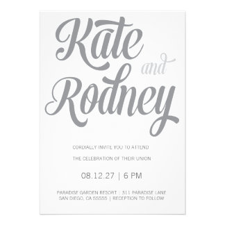 311 Retro Gray Custom Wedding Contact Me Personalized Announcement