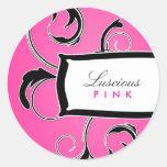 311-Roxy Pink & Black Stickers