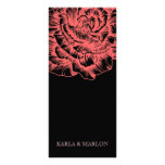 311 Ruffled Peony Coral Melon & Black Full Color Rack Card