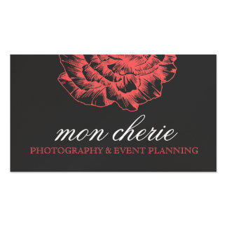 311 Ruffled Peony Coral Melon Business Card
