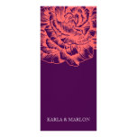 311 Ruffled Peony Coral Melon Purple Rack Card