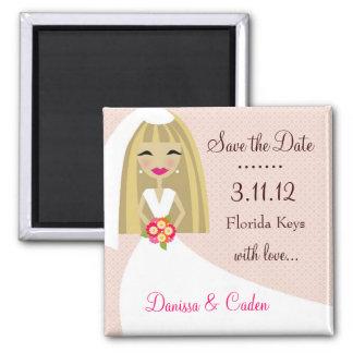 311-SAVE THE DATE BLONDE BRIDE FRIDGE MAGNETS
