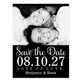 311 Save the Date Photo Postcard Black White