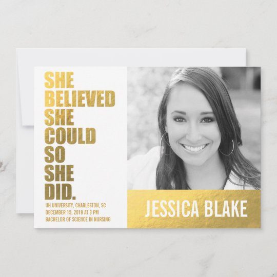 311 she believed she could so she did graduation announcement