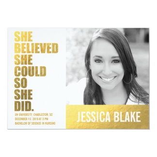 311 She Believed She Could So She Did Graduation Card