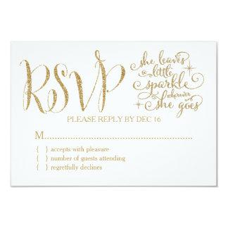 311 She leaves a little Sparkle RSVP Card