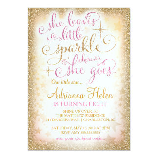 311 She Leaves a Little Sparkle Wherever She Goes 5x7 Paper Invitation Card