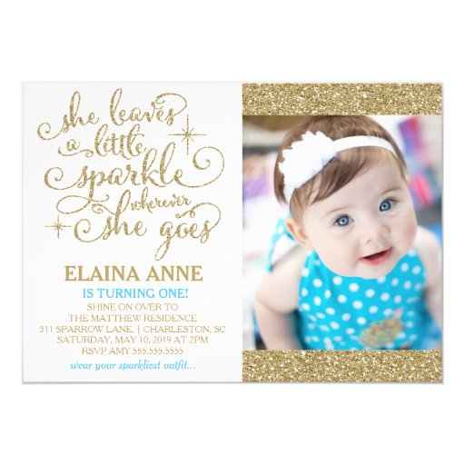 311 She Leaves a Little Sparkle Wherever She Goes Personalized Invites