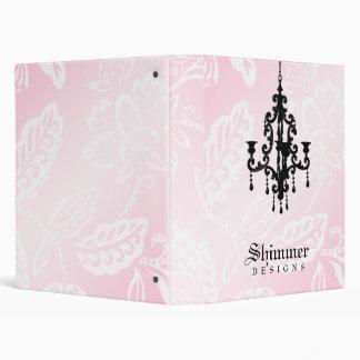 311-Shimmer Chandelier Pink 3 Ring Binder