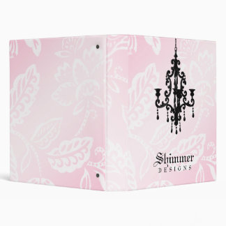 311-Shimmer Chandelier Pink Vinyl Binders