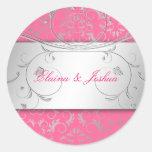 311-Silver adivinan al pegatina rosado delicioso