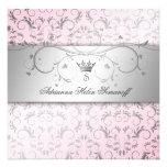 311-Silver adivinan rosa dulce Invitación Personalizada