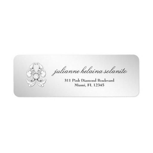 311-Silver Diamond De Luxe Etiqueta De Remite