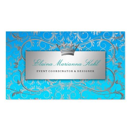 311 Silver Divine Blue Tropical Fade Business Cards