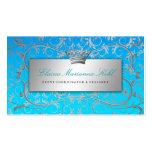 311 Silver Divine Blue Tropical Fade Double-Sided Standard Business Cards (Pack Of 100)