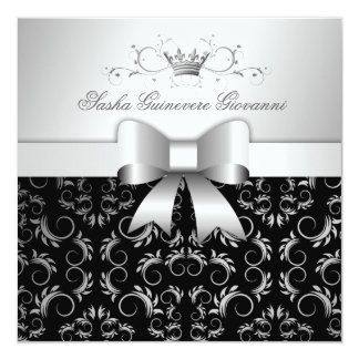 311-Silver Divine Bow   Noir Sweet 16 Card