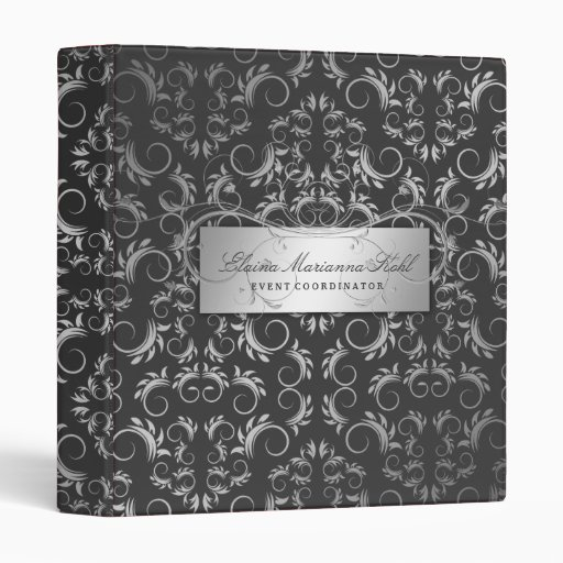 311-Silver Divine Charcoal Gray Binder