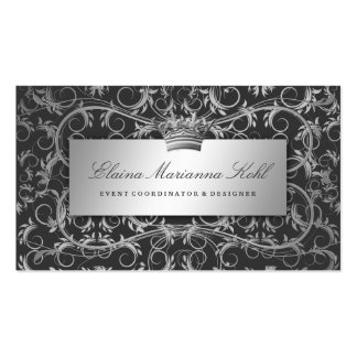 311-Silver Divine Charcoal Gray Business Card