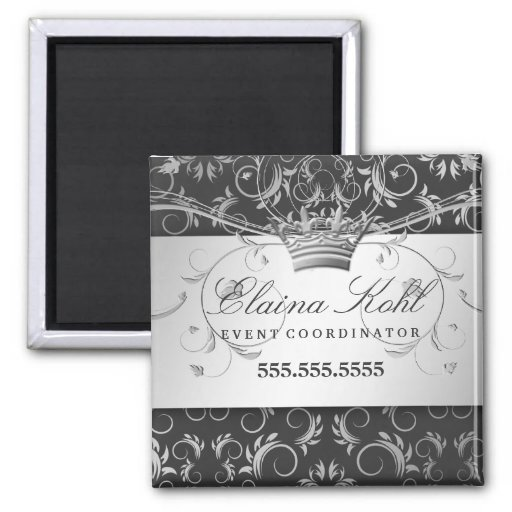 311-Silver Divine Charcoal Gray Business Magnet