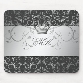 311-Silver Divine Charcoal Gray mousepad