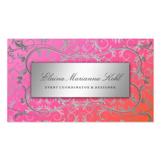 311 Silver Divine Dreamsicle Business Card