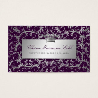311 Silver Divine Eggplant Business Card