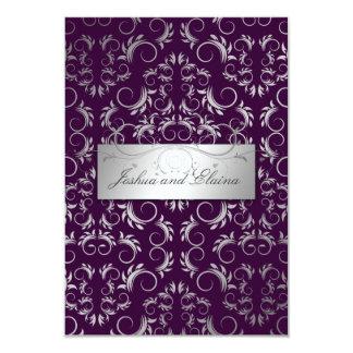 311 Silver Divine | Eggplant Card