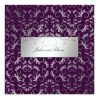 311-Silver Divine   Eggplant Card
