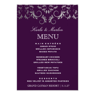 311 Silver Divine Eggplant Card