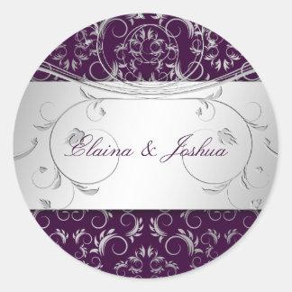 311-Silver Divine | Eggplant Sticker