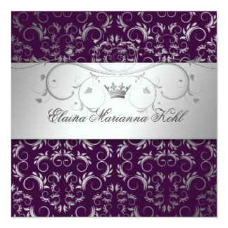311-Silver Divine | Eggplant Sweet 16 Card