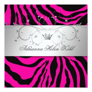 311-Silver Divine Hott Pink Zebra Lingerie Card