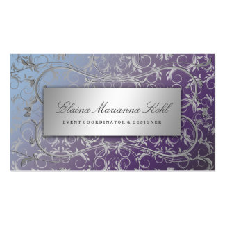 311 Silver Divine Hydrangea Double-Sided Standard Business Cards (Pack Of 100)