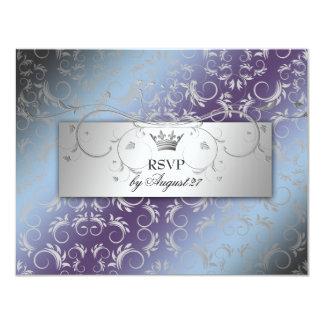 311-Silver Divine Hydrangea RSVP Card