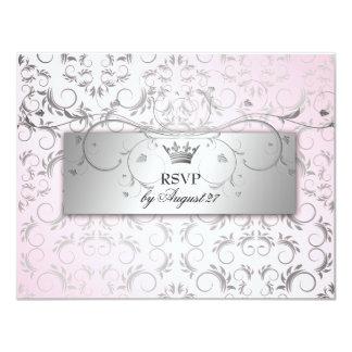 311-Silver Divine Hydrangea RSVP Sweet Pink Card