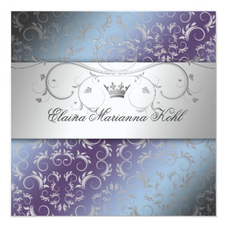 311-Silver Divine Hydrangea Sweet 16 Card