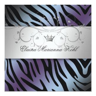 311-Silver Divine Hydrangea Sweet Sixteen Zebra 2 Card