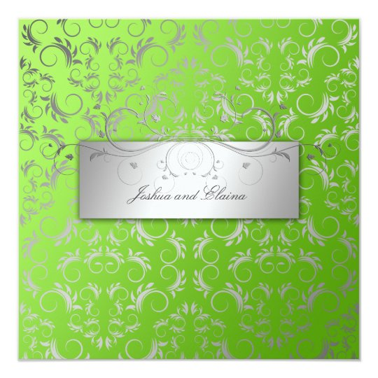 311-Silver Divine Lime Flourish Card