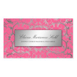 311 Silver Divine Luscious Pink Double-Sided Standard Business Cards (Pack Of 100)