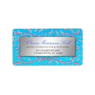 311 Silver Divine Pink Swirls Blue Tropical Fade Label