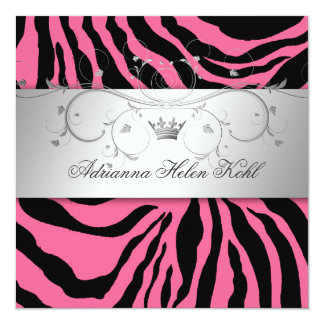 311-Silver Divine Pink Zebra Lingerie Card