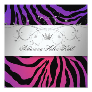 311-Silver Divine Purple Radiance Zebra Lingerie Card