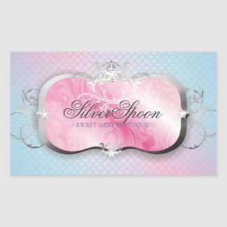 311 Silver Spoon Baby Boutique Rectangular Sticker