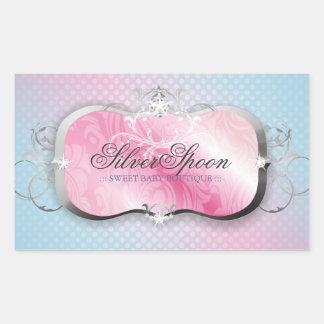 311 Silver Spoon Baby Boutique Rectangular Sticker